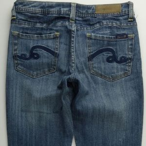 Seven7 Classic Flare 27 Womens Jeans Stretch C352P